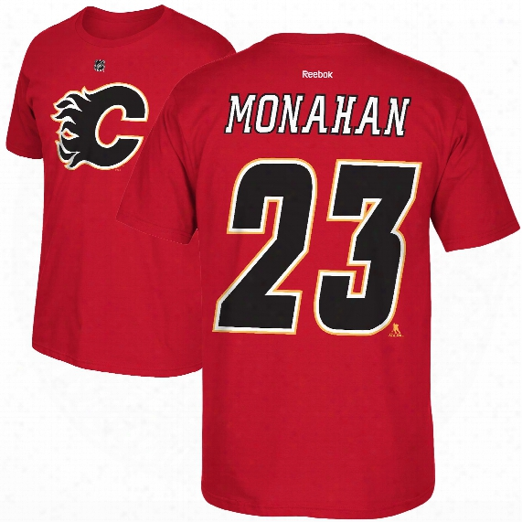 Calgary Flames Sean Monahan Reebok Nhl Player Name & Number T-shirt
