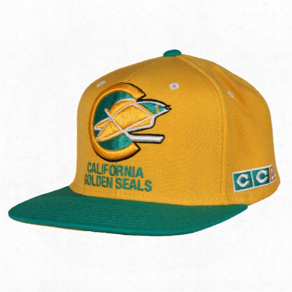 California Golden Seals Ccm Vintaage 2-tone Snapback Cap