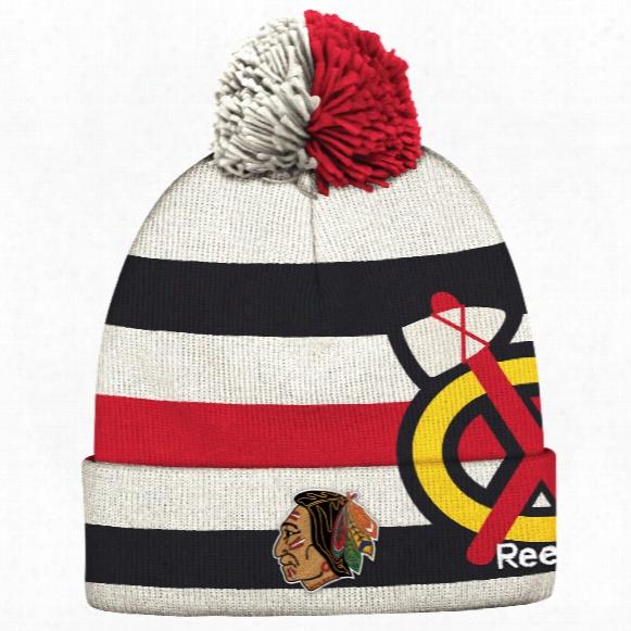 Chicago Blackhawks 2017 Nhl Winter Classic Cuffed Pom Knit Hat