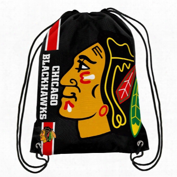 Chicago Blackhawks Drawstring Big Logo Bag