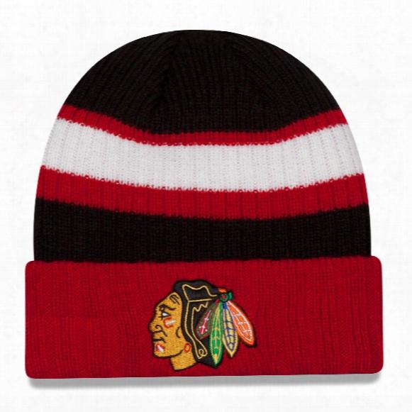 Chicago Blackhawks New Era Nhl Rib Start Cuff Knit Beanie