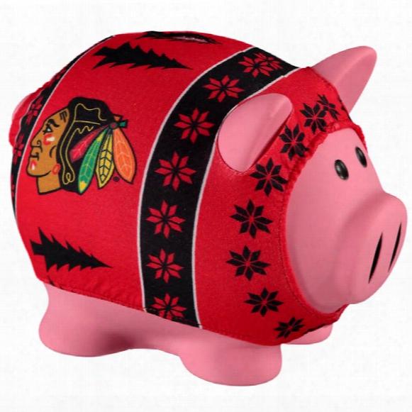 Chicago Blackhawks Ugly Sweater Piggy Bank