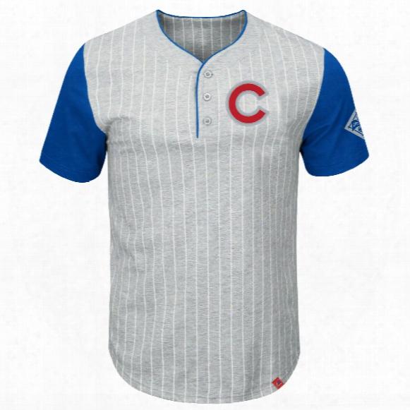 Chicago Cubs Pinstripe Henley T-shirt