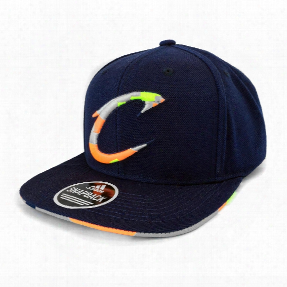 Cleveland Cavaliers Adidas Nba Neon Logo Flat Brim Snapback Cap
