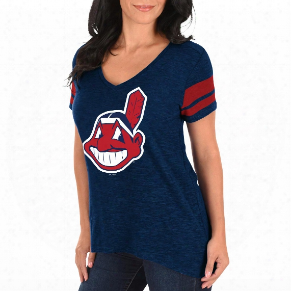 Cleveland Indians Women's Check The Tape V-neck T-shirt