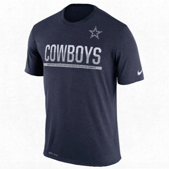 Dallas Cowboys Nfl Nike Team Practice Light Speed Dri-fit T-shirt