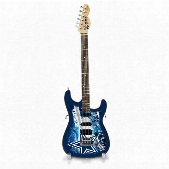"Dallas Cowboys Woodrow Northender Nfl Collectible 10"" Mini Guitar"