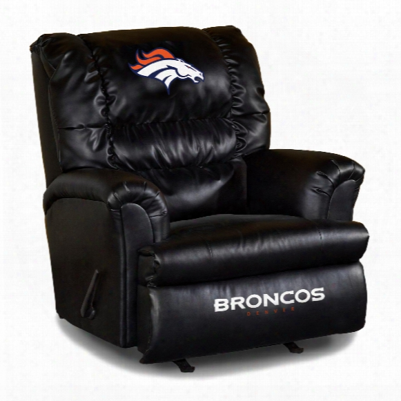 Denver Broncos Leather Big Daddy Recliner