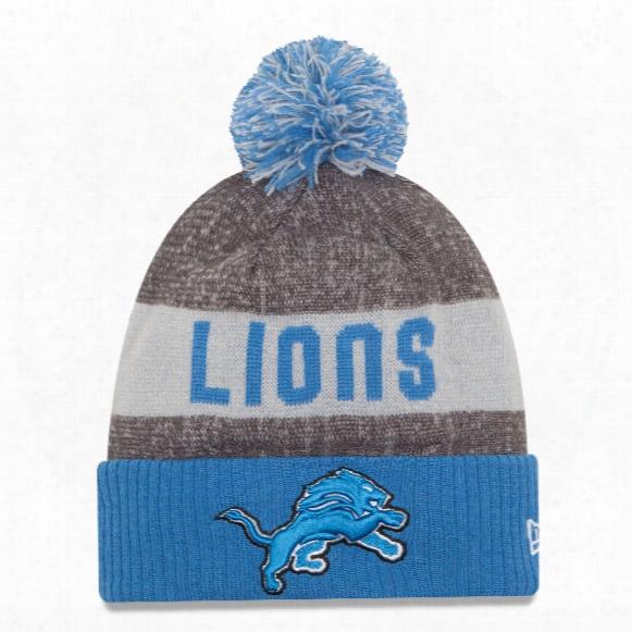 Detroit Lions New Era 2016 Nfl Official Sideline Sport Knit Hat