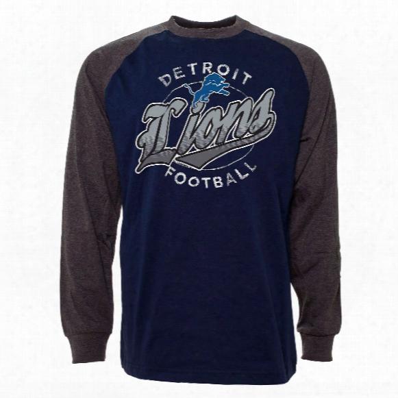 Detroit Lions Rounder Raglan Long Sleeve Jersey T-shirt