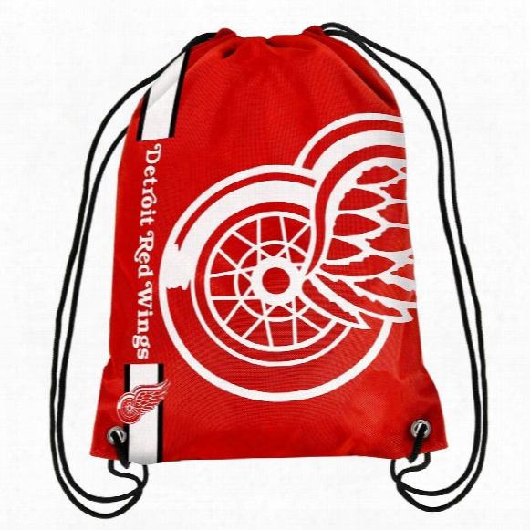Detroit Red Wings Drawstring Big Logo Bag