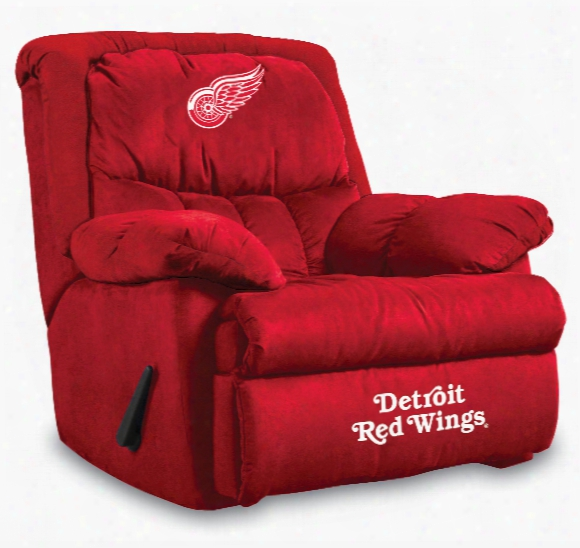 Detroit Red Wings Microfiber Home Team Recliner
