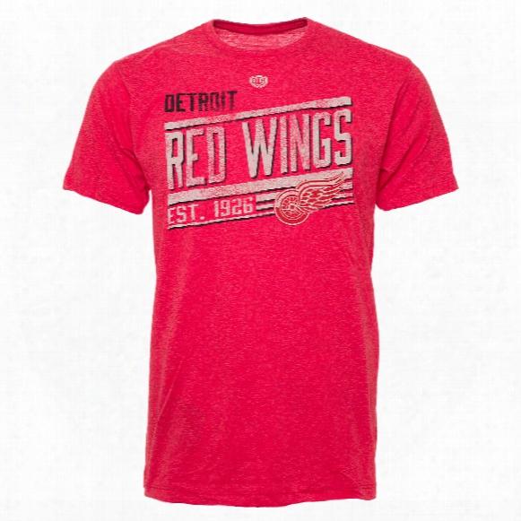 Detroit Red Wings Ramp Lightweight Heathered Bi-blend T-shirt
