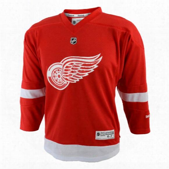 Detroit Red Wings Reebok Child Replica (4-6x) Home Nhl Hockey Jersey
