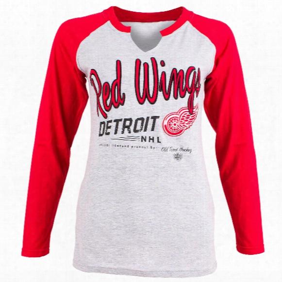 Detroit Red Wings Women's Jura Long Sleeve V-neck T-shirt