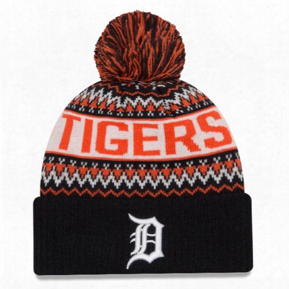 Detroit Tigers Mlb Wintry Pom Knit Hat