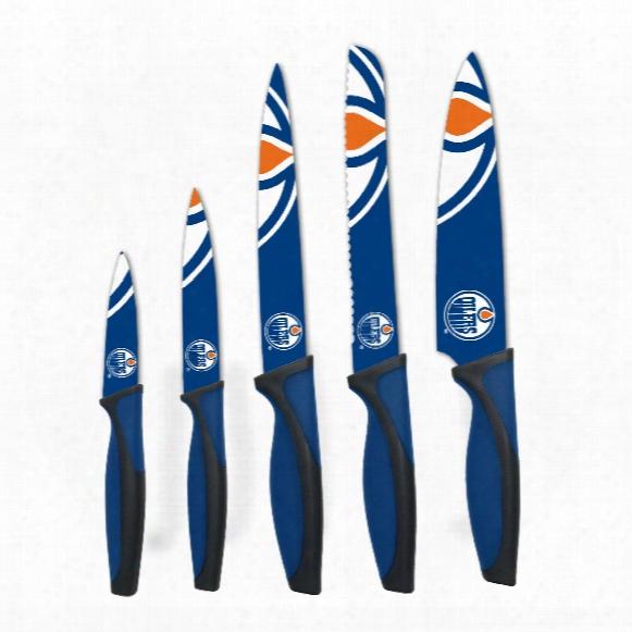 Edmonton Oilers 5-piece Kitchen Knife Set