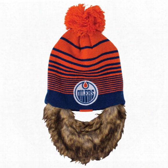 Edmonton Oilers Bertram Knit Hat With Removable Beard