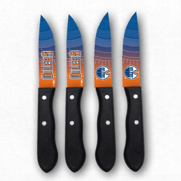 Edmonton Oilers Steak Knives (4-piece Set)