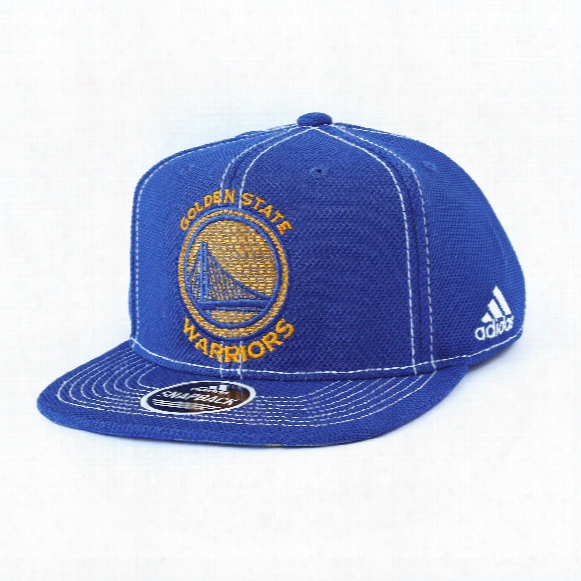 Golden State Warriors Adidas Nba Flat Brim Snapback Cap