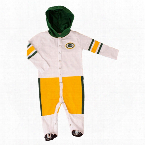 Green Bay Packers Baby Runner Long Sleeve Coverall/onesie
