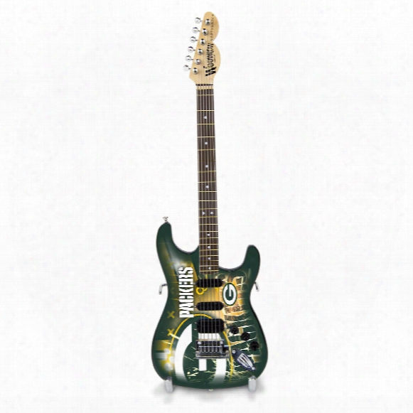 """Green Bay Packers Woodrow Northender Nfl Collectible 10"""" Mini Guitar"""
