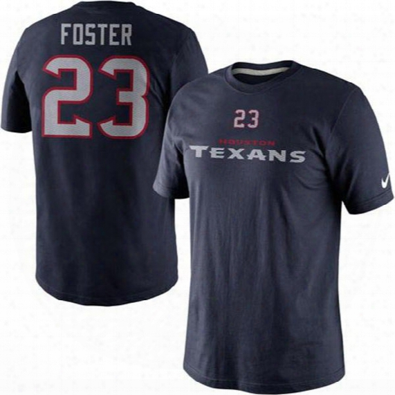Houston Texans Arian Foster Nfl Name And Number T-shirt