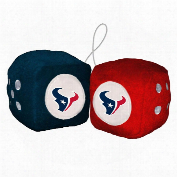 Houston Texans Fuzzy Dice
