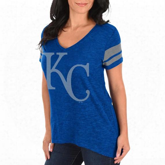 Kansas City Royals Women's  Check The Tape V-neck T-shirt