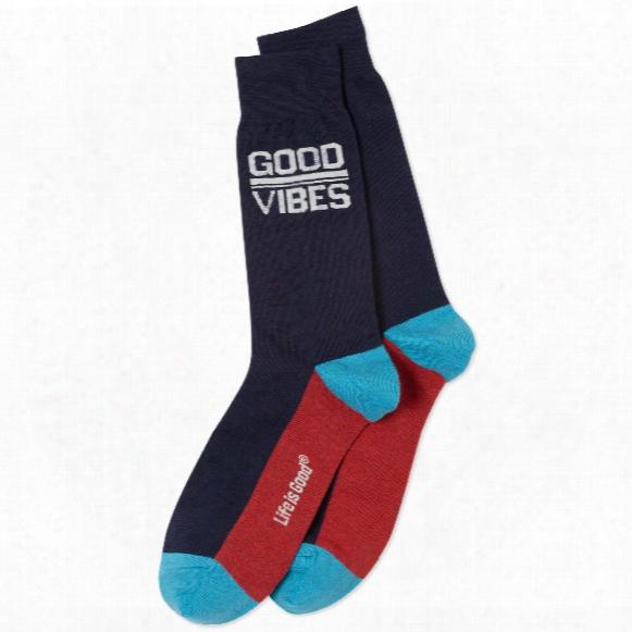 Life Is Good Men's Good Vibes Crew Socks