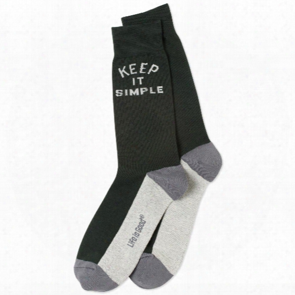 Life Is Good Men's Keep It Simple Crew Socks