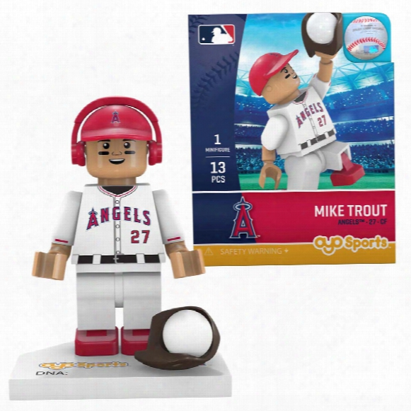 Los Angeles Angels Mike Trout Oyo Sports Minifigure