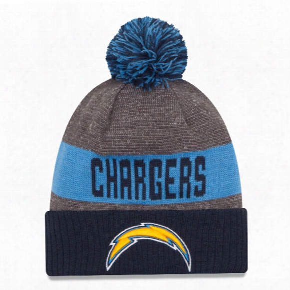 Los Angeles Chargers New Era 2016 Nfl Official Sideline Sport Knit Hat
