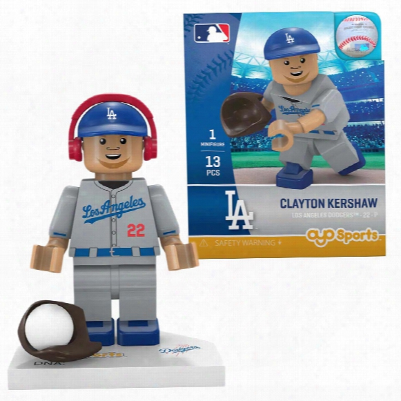 Los Angeles Dodgers Clayton Kershaw Oyo Sports Minifigure