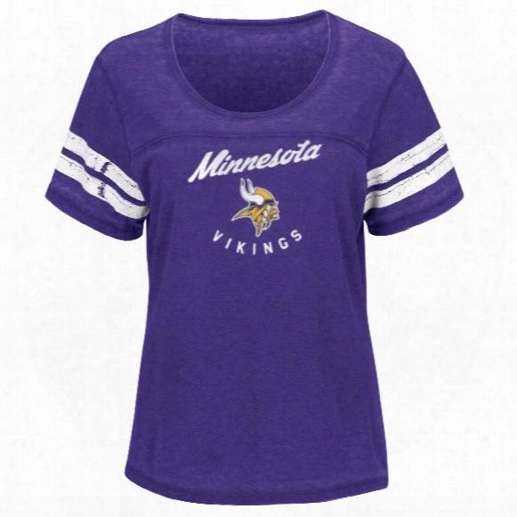 Minnesota Vikings Women's Superstar Effort Nfl T-shirt