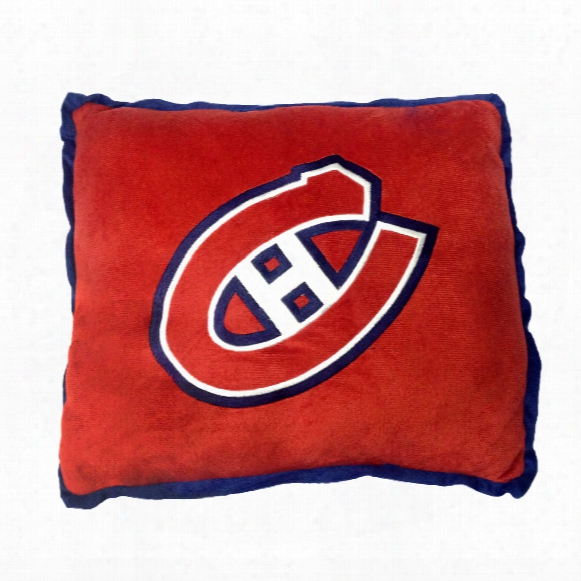 Montreal Canadiens 16 Inch Contrast Trim Pillow
