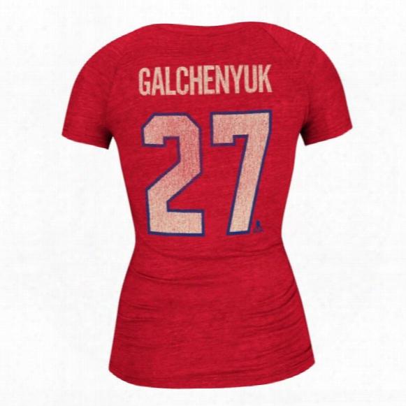 Montreal Canadiens Alex Galchenyuk Women's Retro Tri-blend V-neck T-shirt