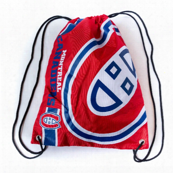 Montreal Canadiens Drawstring Big Logo Bag