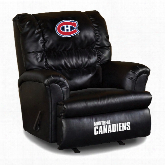 Montreal Canadiens Leather Big Daddy Recliner