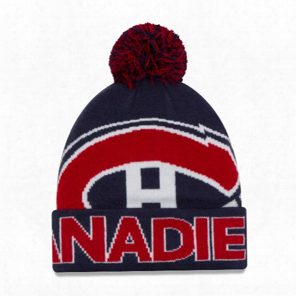 Montreal Canadiens New Era Nhl Cuffed Colossal Team Pom Knit Hat