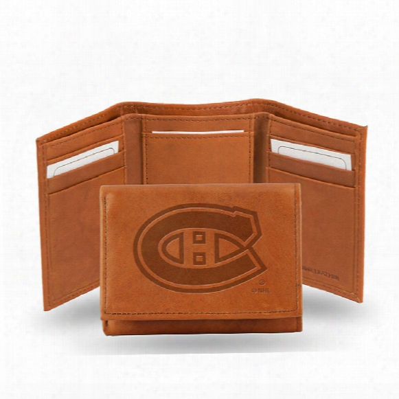 Montreal Canadiens Tri-fold Leather Wallet