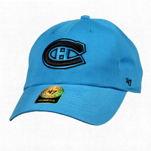 Montreal Canadiens Women's Clean Up Cap (neon Blue)