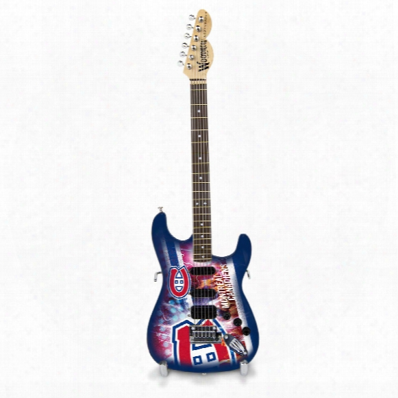 "Montreal Canadiens Woodrow Northender Nhl Collectible 10"" Mini Guitar"