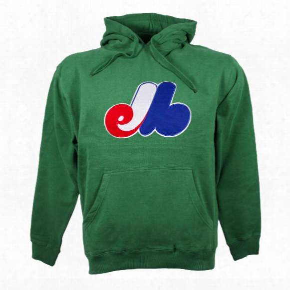Montreal Expos Cooperstown Twill Logo Hoody (green)