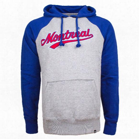 Montreal Expos Raglan Fleece Sport Hoodie