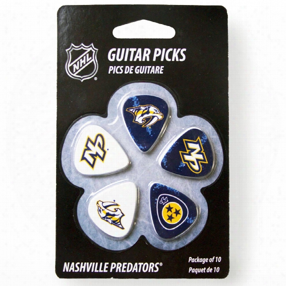Nashville Predators Woodrow Guitar 10-pack Guitar Picks