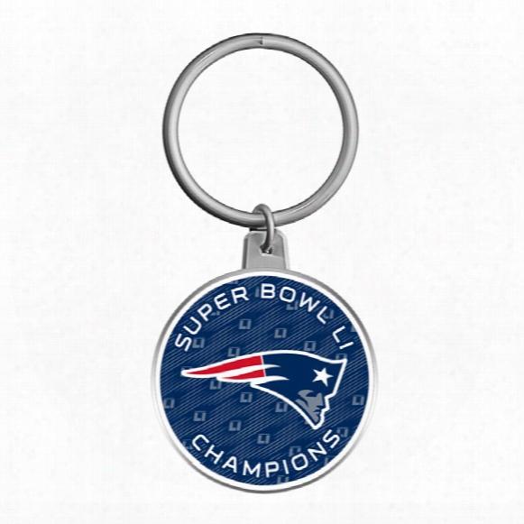New England Patriots 2017 Nfl Super Bowl Li Champions Keychain