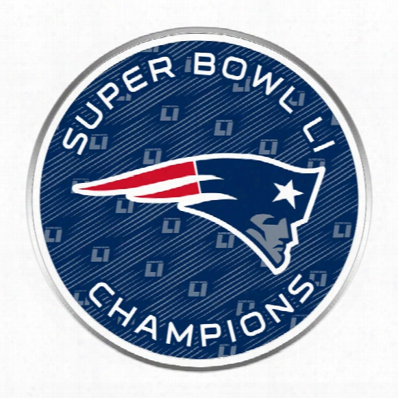 New England Patriots 2017 Nfl Super Bowl Li Champions Logo Lapel Pin
