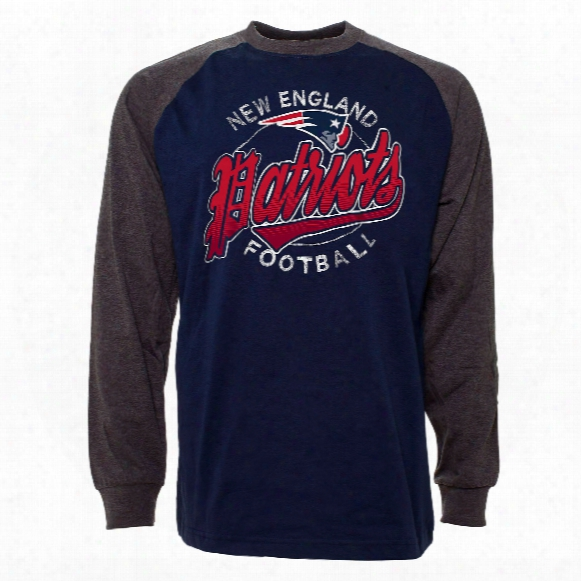 New England Patriots Rounder Raglan Long Sleeve Jersey T-shirt