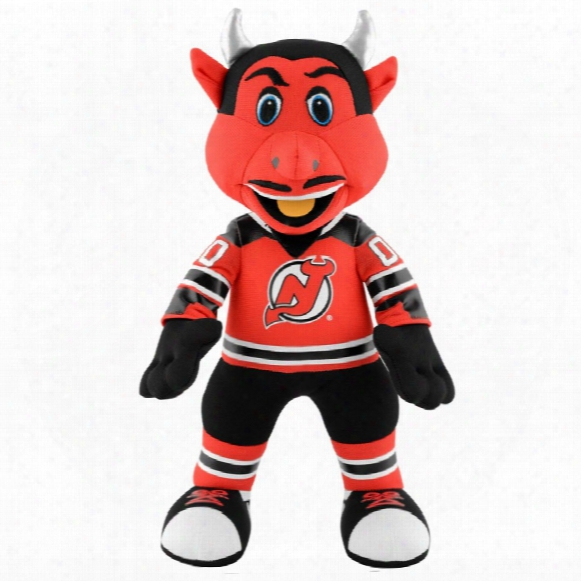 "New Jersey Devils Devil Mascot 10"" Nhl Plush Bleacher Creature"